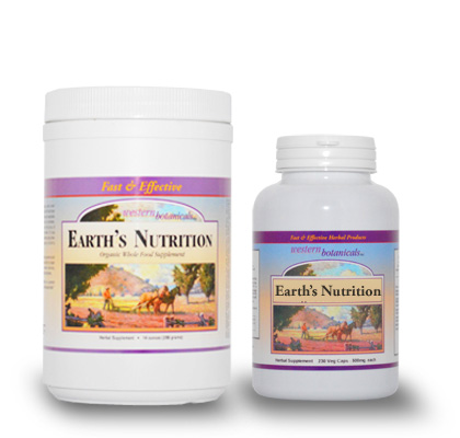 Earth's Nutrition Powder and Capsules
